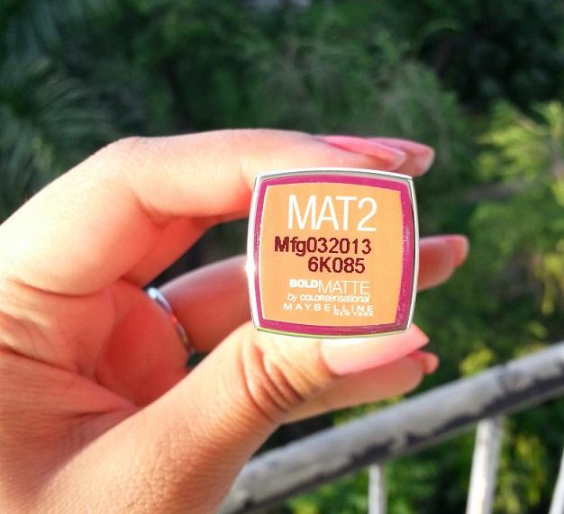 Maybelline Bold Matte Lipstick MAT 02