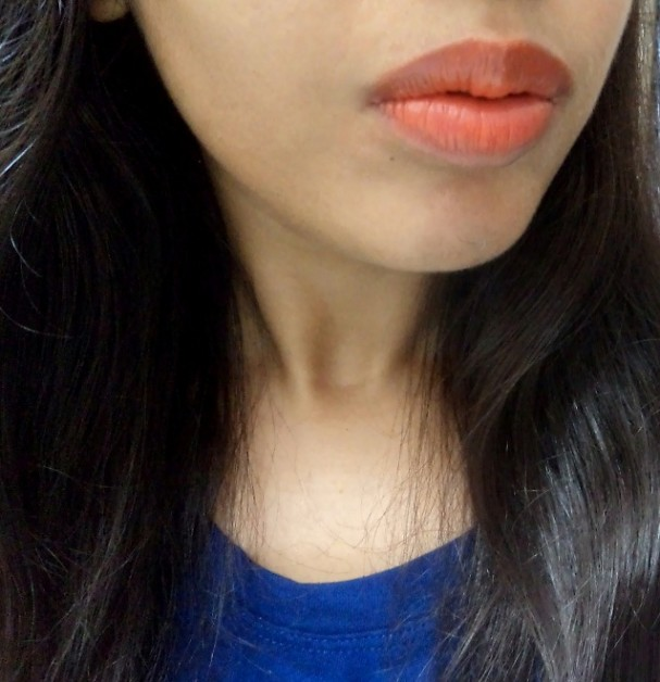 Maybelline Color Sensational Bold Matte Lipstick Mat3 Swatches on lips