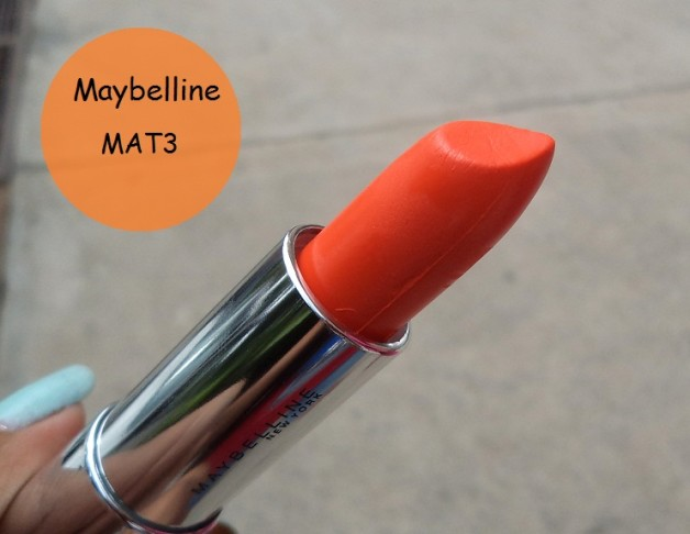 Maybelline Color Sensational Bold Matte Lipstick Mat3 Review, Swatches, FOTD