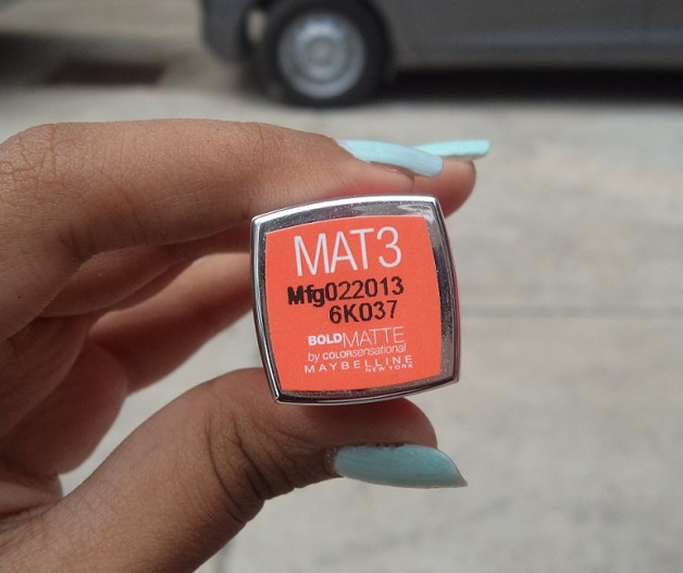 Maybelline Color Sensational Bold Matte Lipstick Mat3 Review Photo