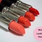 MUA Lipsticks Shades 13, 15 Juicy, 16 Nectar