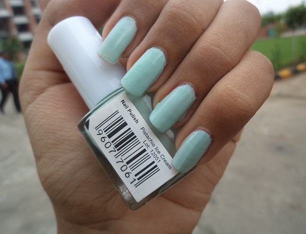 mua nail polish pistachio ice cream review