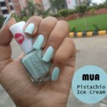 NOTD: MUA Nail Polish Pistachio Ice Cream