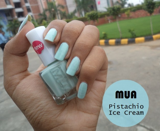 mua nail polish pistachio ice cream swatches