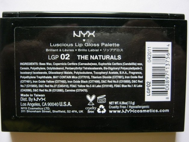 Nyx Luscious Lipgloss Palette -The Naturals Review
