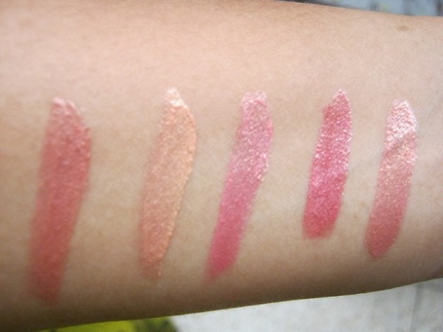 Nyx Luscious Lipgloss Palette -The Naturals Swatches