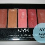 NYX Luscious Lipgloss Palette -The Naturals Swatches and Review