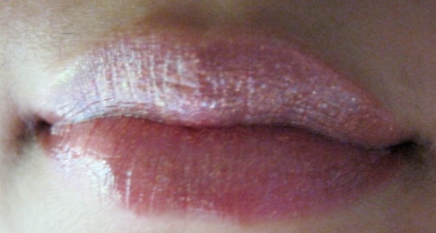 Nyx Luscious Lipgloss Palette -The Naturals Lip Swatch