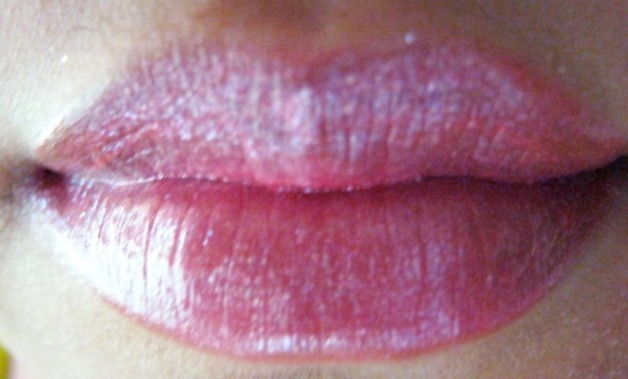 Nyx Luscious Lipgloss Palette -The Naturals Swatch on lips