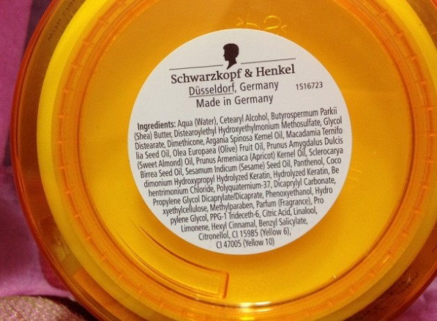 schwarzkopf gliss hair repair mask ingredients
