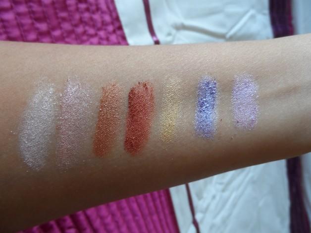 Bobbi Brown Eyeshadow Palette Sandstone swatches