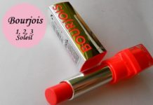 Bourjois Shine Edition Lipstick 1,2,3 Soleil Review Swatches