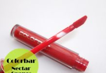 Colorbar True Gloss Lip Gloss Nectar Orange Review Swatch
