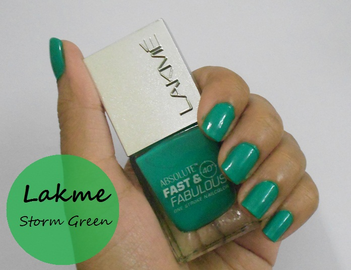 Lakme Absolute Fast and Fabulous Nail Enamel Storm Green