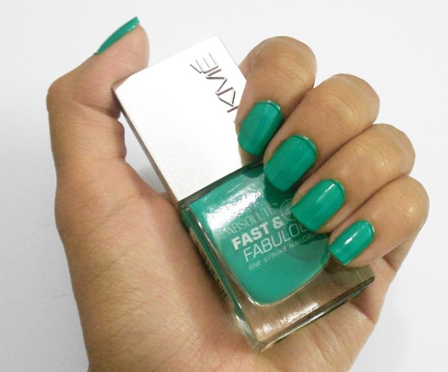 Lakme Absolute Fast and Fabulous Nail Enamel Storm Green review