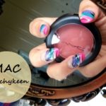 MAC Peachykeen Sheertone Shimmer Blush Review swatches n FOTD