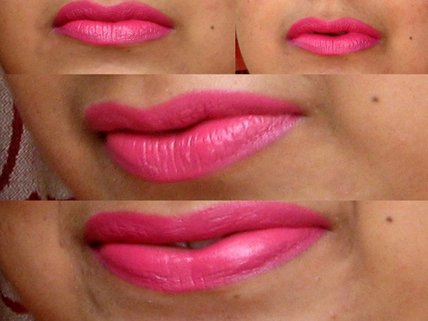 Bobbi Brown Pink Lily Creamy Matte Lip Color Swatches on lips