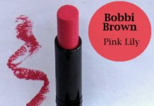 bobbi brown pink lily lipstick review swatches