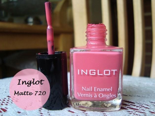 inglot pink nail enamel 720