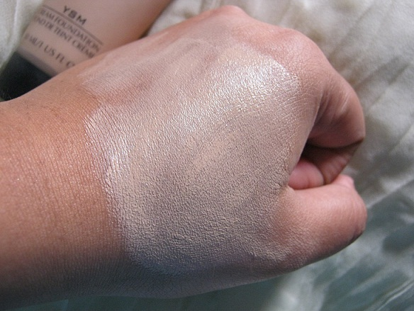 inglot ysm cream foundation swatches