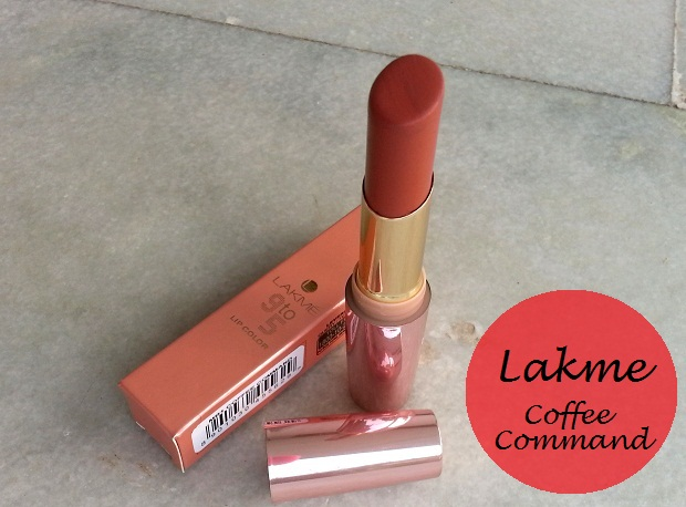 lakme 9-to-5 lipstick coffee command review