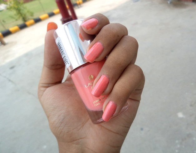 Lakme 9 to 5 Long Wear Nail Color Rosey Monday review