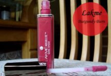 lakme absolute gloss stylist burgundy burn review photo