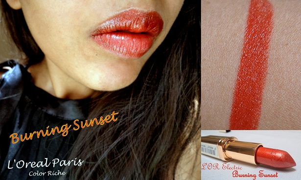 l'oreal color riche lipstick burning sunset buy online
