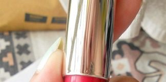 l'oreal paris Glam Shine Balmy Gloss lip crayon Pomegranate Punch review