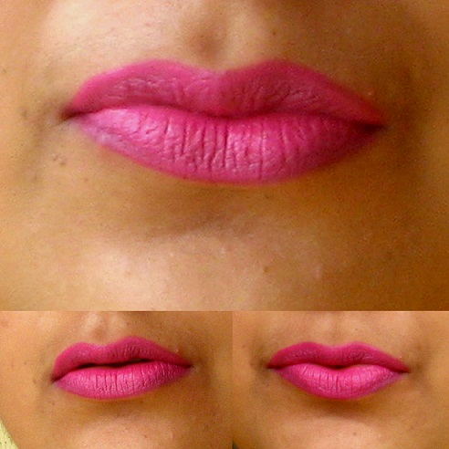 Mac Pro Longwear Lipcreme Love Forever Swatches on lips