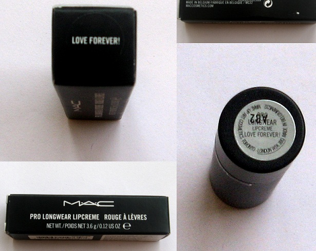 Mac Pro Longwear Lipcreme Love Forever