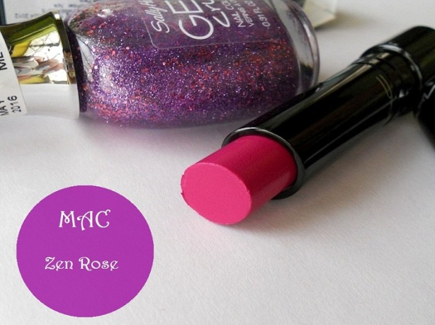 mac zen rose lipstick review swatches FOTD