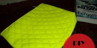 neon green handbag diy
