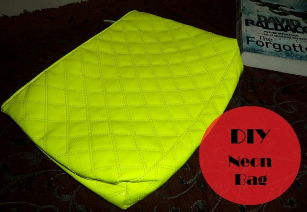 neon green handbag diy