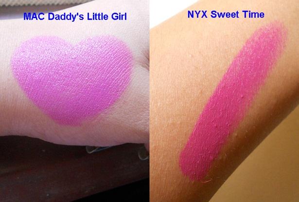 NYX Matte Lipstick Sweet Pink Swatch