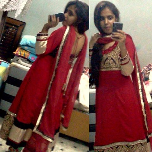 red anarkali design for indian weddings