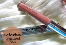 COLORBAR true gloss lipgloss natural tan blog review