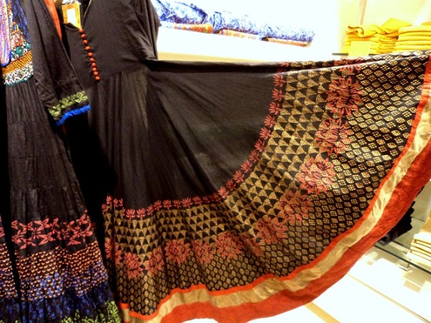 black anarkali suit shopping biba store