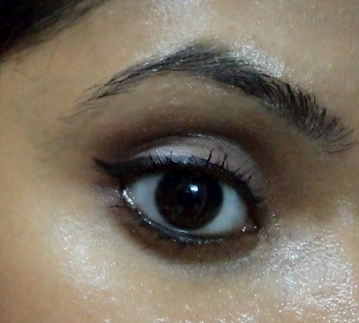 brown copper eye makeup look