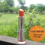 Colorbar Velvet Matte Lipstick Obsessed Orange Swatches, Review and FOTD