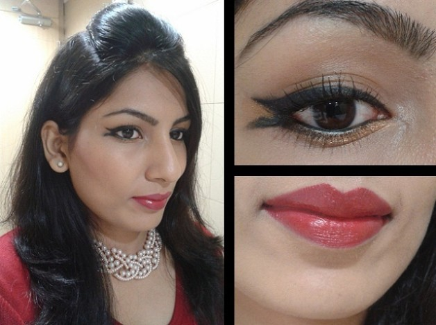 double winged eye liner makeup look
