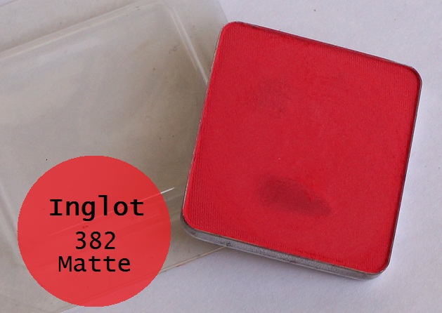 inglot freedom system square-eyeshadow refill 382 matte review