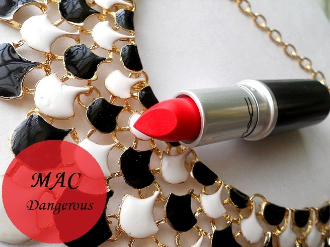 mac dangerous retro matte lipstick review