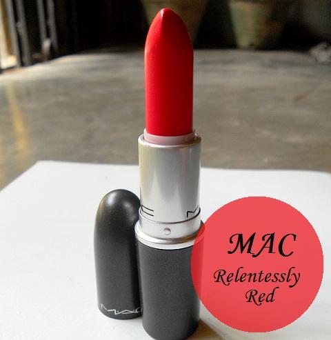 mac relentlessly red retro matte lipstick photo