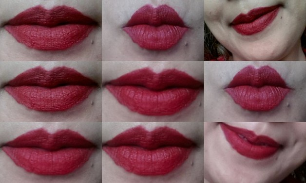 mac riri woo lipstick lip swatches natural light and flash