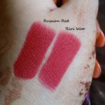 mac riri woo comparison with russian red lipstick swatch