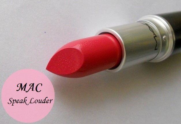 mac speak louder lipstick review