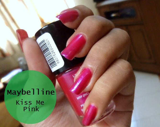 New Launch Maybelline Color Show Nail Lacquer Kiss Me