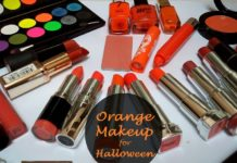 orange makeup for halloween
