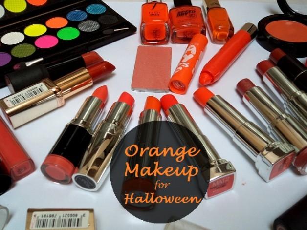 orange makeup for halloween